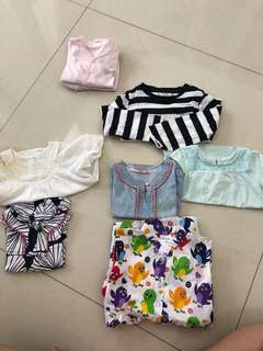 Carters, Old Navy, Mango, Gingersnaps, Fluffy, Brand lokal baby 7pcs take all