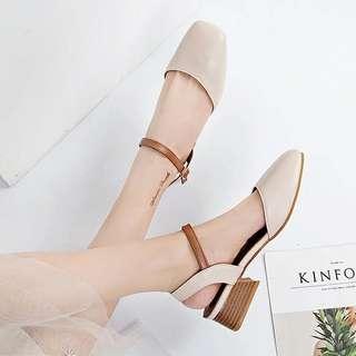 🚚 📣原價550 溫柔氣質仙女鞋(粗跟)♡預購♡