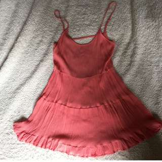 Forever 21 Pink Backless Beach Dress Size S