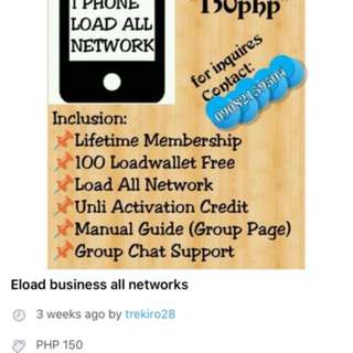 All networks eload business with bills payment