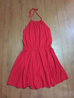 Authentic Lacoste Red backless dress