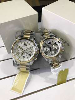 MK COUPLE TWO TONE AUTHENTIC WATCH