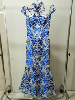Cheongsam mermaid dress