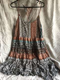 BACKLESS BOHO DRESS