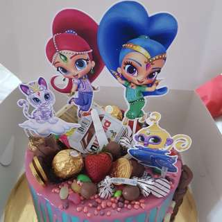 ✔️Customized cake topper shimmer and shine