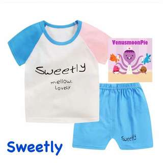 Sweetly kids T-shirt set