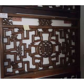 Vintage Chinese Carved Screen (No 32#)