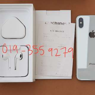 iPhone X 256gb MY SET with 10 month warranty