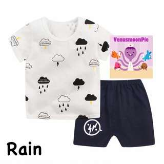 Raining kids T-shirt set