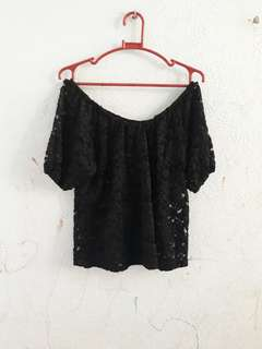 lace ofshoul blouse
