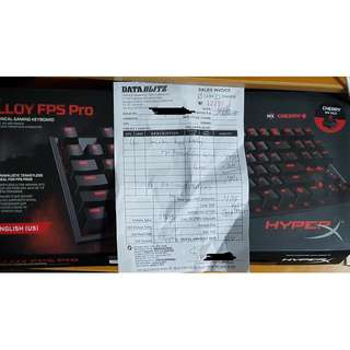 HyperX Alloy FPS Pro (TKL) Cherry MX Red Switch