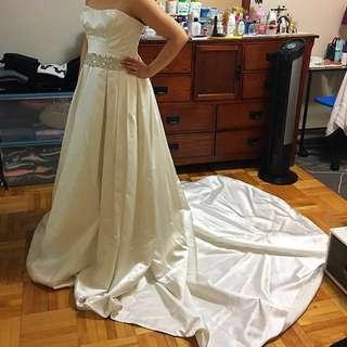 Midgeley And Sottero Satin Wedding Gown.