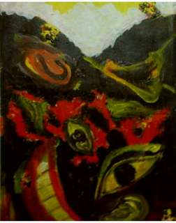 "Lukisan ekspresionisme ""otak kita """