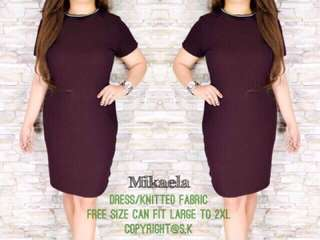 Plus size dress knitted 2xl