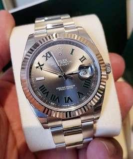 Rolex 緑羅馬字