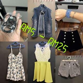 Used/new - Baby/ women(price start rm5-rm25)