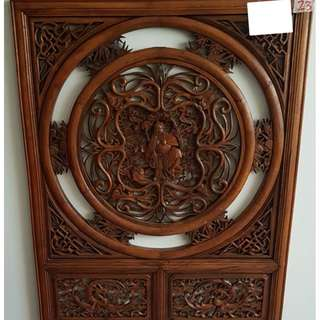 Vintage Chinese Carved Screen (No 36#)