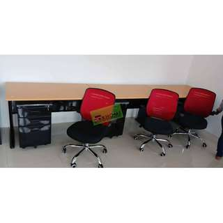 CNL-272 MESH CHAIRS COLOR RED--KHOMI