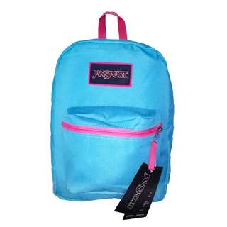 JANSPORT BAG - OVEREXPOSED (MAMMOTH BLUE AND PINK)