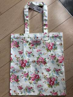 Cath Kidston Book Bag, Spray Flower White