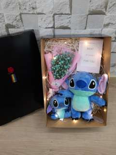 Baby breath with stitch gift set