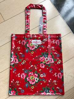 Cath Kidston Book Bag, Folk Flowers Red