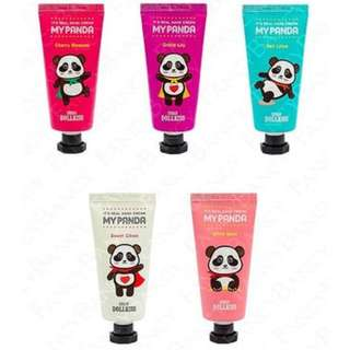 URBAN DOLLKISS edition of My Real Panda Hand Creams, Deli Lotus, Grace Lily, and Sweet Citron