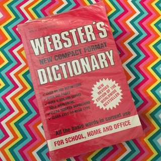 Webster's New Compact Format Dictionary Book