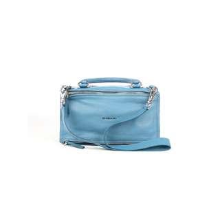 GIVENCHY - 藍色PANDORA中號羊皮手提包