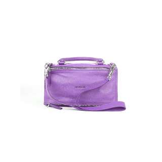 GIVENCHY - 紫色PANDORA中號羊皮手提包