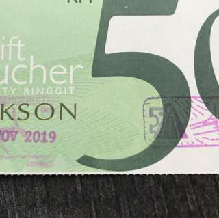 Parkson Voucher worth RM1000