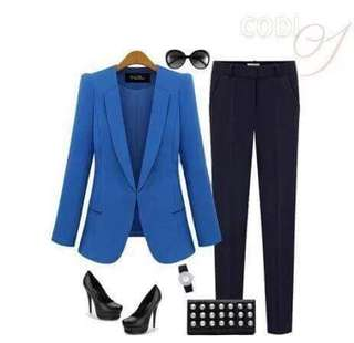🌷U.s blazer  🌻Cotton  💐two colors ( black,royal blue ) 🌷fit S to L (One Size) 🎀Good Quality 💕
