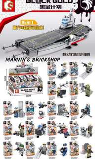 SEMBO BLOCK GOLD 16in1 set with FREE Navy Marine Ship