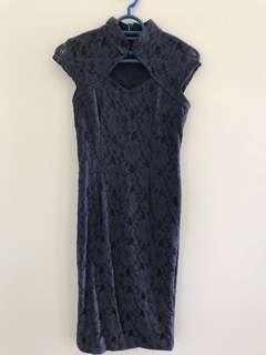 Blue Lace Cheongsam (Preloved)