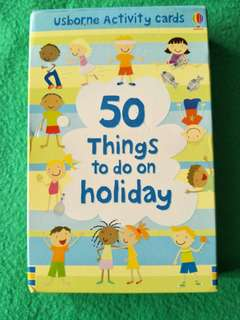 Usborne Activity Cards: 50 Things To Do On Holiday