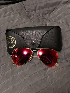 Ray Ban 太陽眼鏡-反光橙色