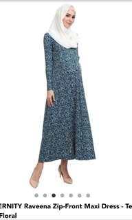 Poplook Maternity Raveena zip front dress