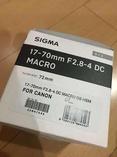 Sigma 17-70mm F2.8-4 DC Macro Lens