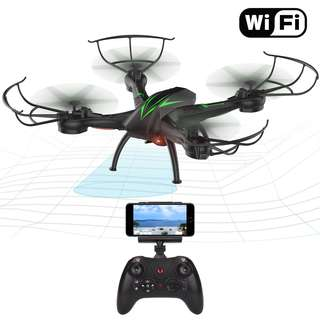 Wifi FPV Quadcopter Drone with Camera Live Video 2.4GHz Headless Mode Altitude Hold One-Key Function VR Headset-Compatible Gravity Induction Damage Resistance