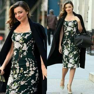 🍃Vintage Green Floral Dress