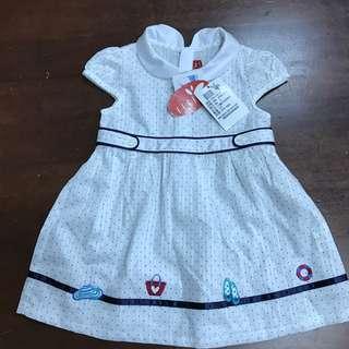 🚚 全新 ELLE洋裝 女寶寶短袖洋裝套裝彌月禮盒 80 公分
