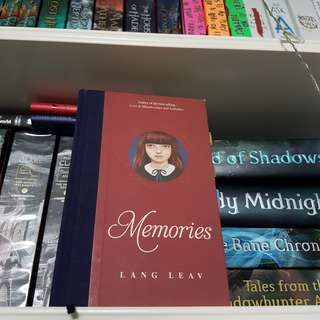 Hardback Memories , Lang Leav's collection of Poetry