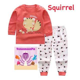 Squirrel kids pajamas set