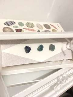 水晶原石耳環 crystal stone earrings gift set