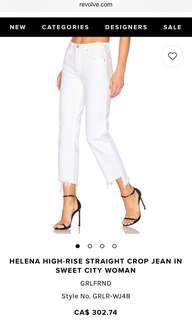 GRLFRND WHITE JEANS (Sold at Aritzia and Revolve)