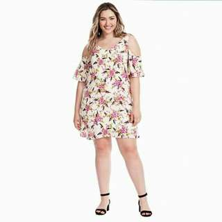 🔴Plus size cold shoulder dress