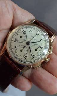 Zenith 18k Solid Rose Gold Chronograph.