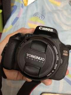 Canon EOS 600D + kits len + 50mm + 35mm