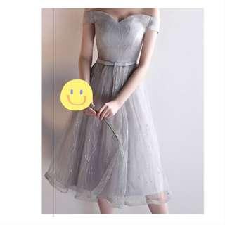 🚚 小禮服 / 伴娘服 /銀灰色