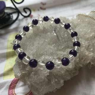 白水晶x紫水晶 易襯 經典